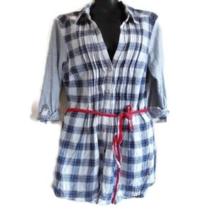 Anthropologie | One Sept  | 1.9 | plaid tunic top